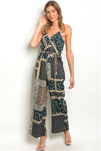 136-1-1-R38651 NAVY TAN JUMPSUIT 2-2-2