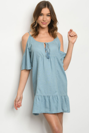 S23-10-4-D2107 BLUE DENIM DRESS 3-2-1