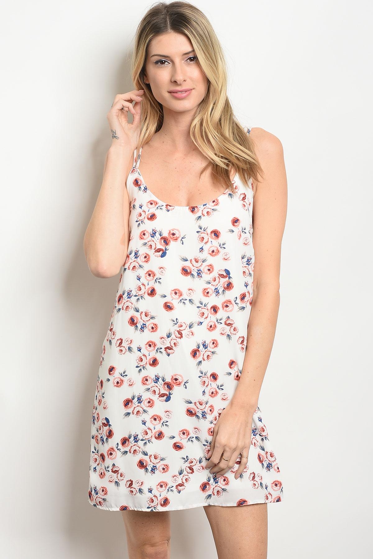 C10 A 5 D66806 White Flower Print Dress 2 2 2