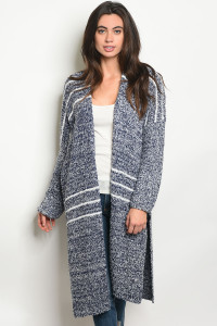 S2-4-2-C20427 NAVY WHITE CARDIGAN 3-2-1
