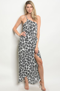 S22-12-1-D935 OFF WHITE BLACK DRESS 3-2-2