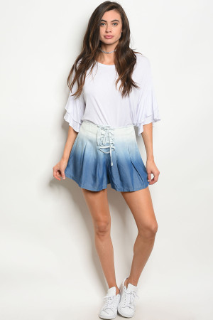 S16-11-2-S15436 BLUE DENIM SHORTS 3-2-1