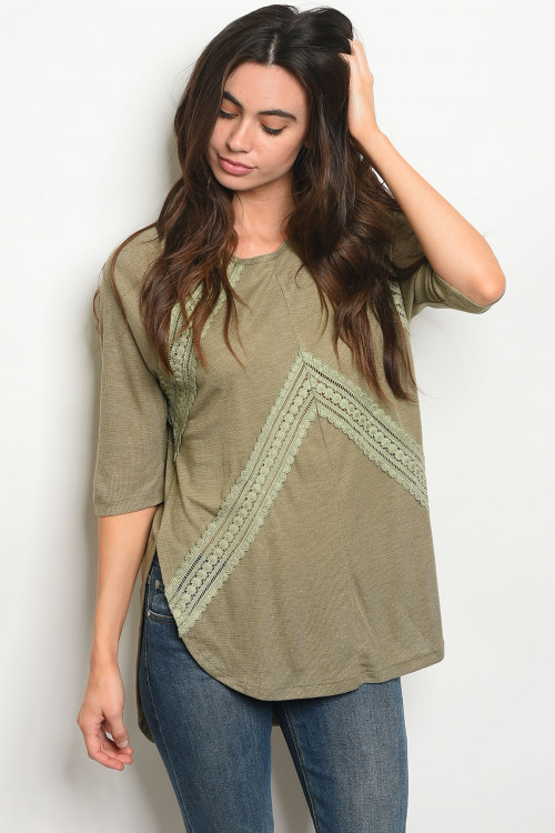 109-6-2-T2527 OLIVE TOP 2-1-2