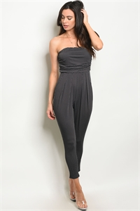 C86-A-6-J705543 BLACK WHITE POLKA DOTS JUMPSUIT 2-2-2