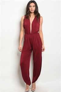 C89-A-2-J71337 WINE JUMPSUIT 2-2-2