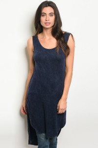 C100-A-3-D8757 NAVY WASHED TOP 2-2-2