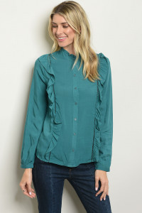 S16-3-5-T9307 TEAL TOP 2-2-2