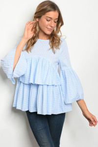 S2-9-1-T20485 BLUE WHITE TOP 2-2-2