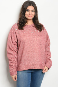 S2-8-1-S20930X BRICK PLUS SIZE SWEATER 2-2-2