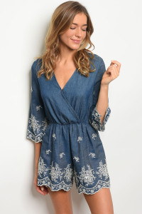 121-3-1-R21962 DENIM BLUE ROMPER 2-2-2
