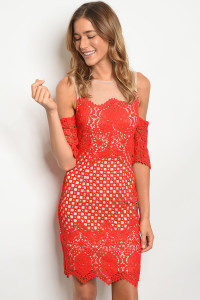 S3-9-1-D16703 RED NUDE DRESS 2-2-2