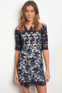 S3-9-2-D16726 NAVY NUDE DRESS 2-2-2