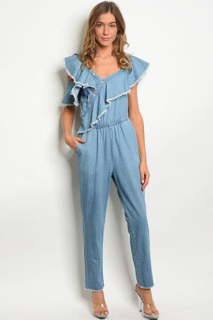 S8-14-1-J9073 BLUE DENIM JUMPSUIT 3-2-1