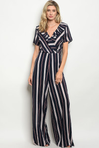 125-1-1-J4010 NAVY WINE STRIPE JUMPSUIT 3-2-2