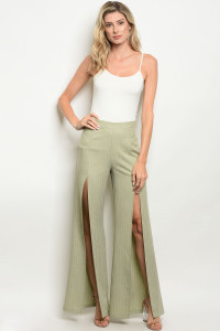 S15-9-1-P7022 SAGE IVORY STRIPES PANTS 4-2-1