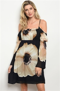 C92-A-6-D1068 BLACK CREAM DRESS 1-2-2-1