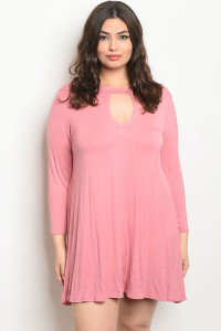 C59-A-1-T11801X PINK PLUS SIZE DRESS 2-2