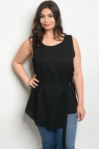 S12-11-2-T377X BLACK PLUS SIZE TOP 2-2-2