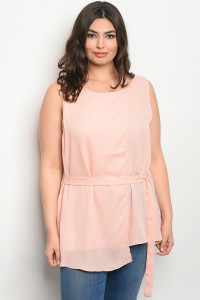 S15-10-2-T377X BLUSH PLUS SIZE TOP 2-3-1