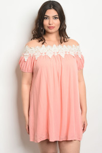 C22-A-1-D21107X IVORY PEACH PLUS SIZE DRESS 3-2-2
