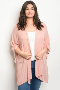 C63-A-1-C11062X BLUSH IVORY PLUS SIZE CARDIGAN 2-2