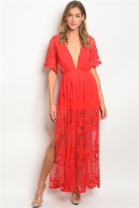 S8-1-5-NA-D5009 RED DRESS 3-2-1