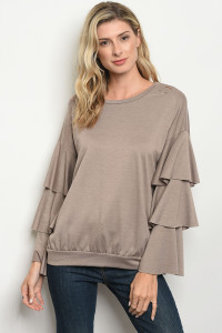 C39-B-2-T3319 TAUPE TOP 2-2-2