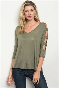 C47-B-4-T2072 LIGHT OLIVE TOP 2-2-2