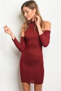 C83-A-2-D3072 MAROON DRESS 2-2-2