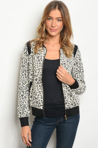 S8-4-1-J8996 CREAM BLACK JACKET / 3PCS