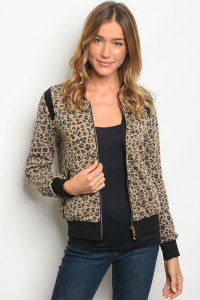 S8-4-1-J8996 BROWN BLACK JACKET 2-2-2