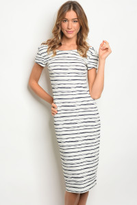 S10-11-3-D9495 IVOR NAVY STRIPES DRESS 2-2-2