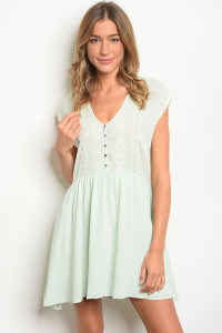 108-5-1-D20488 MINT CREAM DRESS 3-2-1