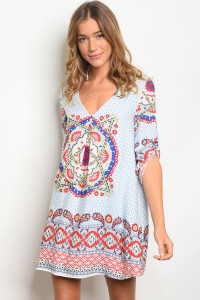S15-8-1-D20566 BLUE RED PRINT DRESS 5-2