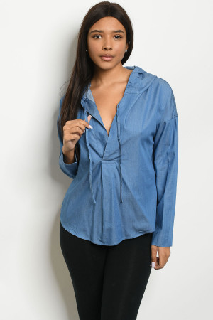 S14-3-2-NA-T73998 DENIM BLUE TOP 3-2-1