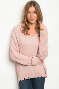 134-2-2-NA-T75145 BLUSH SWEATER 3-2-1
