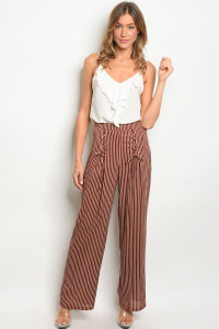 S13-10-3-NA-P714912 WINE BROWN PANTS 3-2-1
