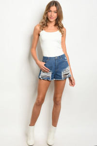134-2-2-NA-S73905 BLUE DENIM SHORTS 1-3-2-1