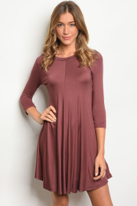 C55-A-1-D11256 CHESTNUT DRESS 1-1-1