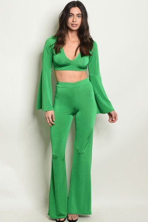 C95-A-5-SET30653 GREEN TOP & PANTS SET 2-2-2