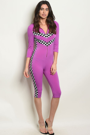C91-A-3-J10232 PURPLE JUMPSUIT 3-2-1