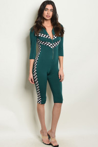 Y-B-J10232 GREEN JUMPSUIT 3-2-1