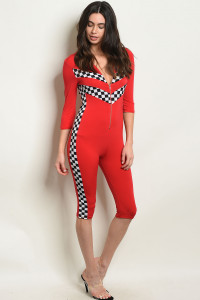 C87-A-3-J10232 RED JUMPSUIT 3-2-1