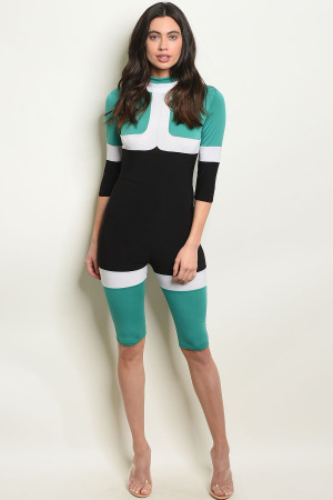 C81-A-2-J10231 MINT BLACK JUMPSUIT 3-2-1