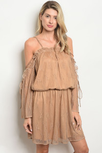 S19-1-2-D10688 TAUPE DRESS 2-2-2