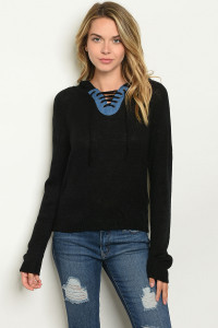 S17-8-1-SW083 BLACK SWEATER 2-2-1