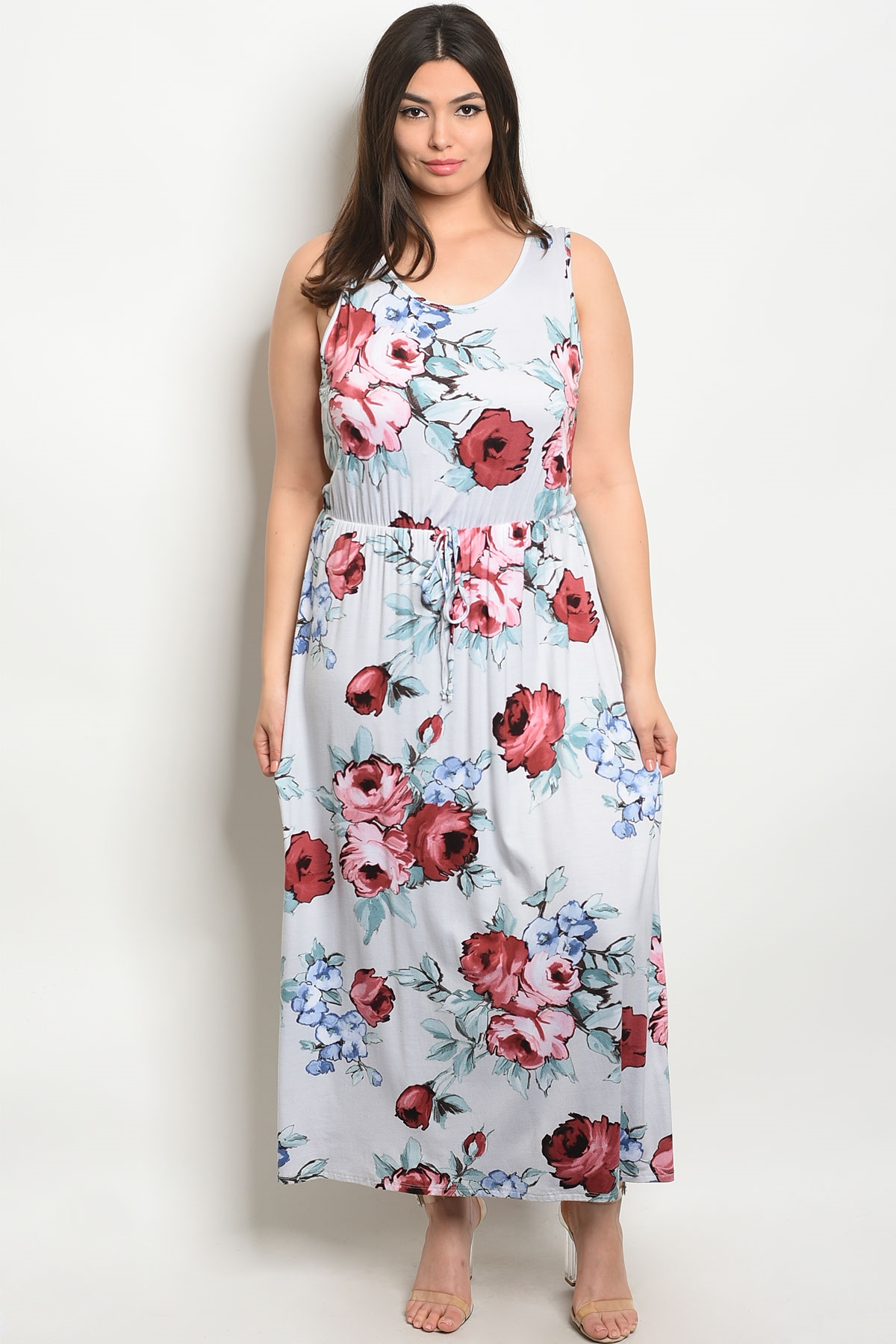 a65c6cd74e00 ... WHITE FLORAL PLUS SIZE DRESS 2-2. Larger Photo ...