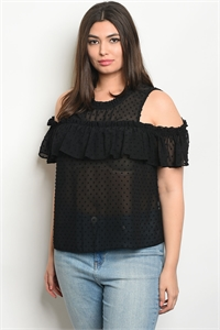S17-11-2-T9319X BLACK PLUS SIZE TOP 2-1-1