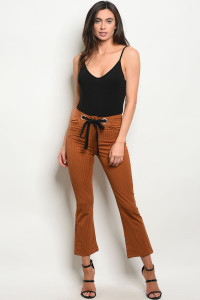 S8-1-3-P1798 CAMEL STRIPES PANTS 2-2-2