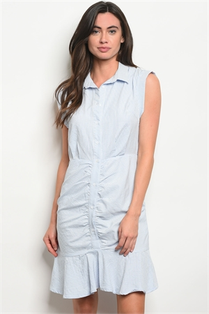 S18-1-5-D5171 BLUE STRIPES DRESS 2-2-2